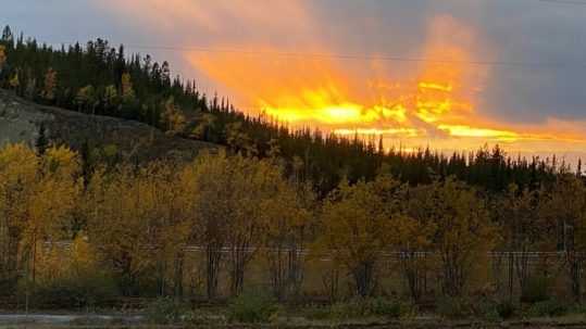 Fall sunset at ArcticPharm